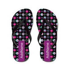 Preppy Chic Pattern Personalized Flip Flops