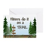Hikers do it on a trail Greeting Cards (Package of