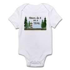 Hikers do it on a trail Infant Bodysuit