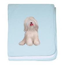 Tibetan Terrier (W) baby blanket