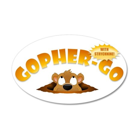 Gopher-Go Wall Decal