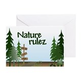 Nature rulez Greeting Cards (Pk of 10)