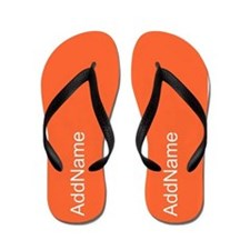 Bright Neon Orange Personalized Flip Flops