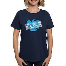 S.H.I.E.L.D. Distressed Women's Dark T-Shirt