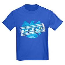 S.H.I.E.L.D. Distressed Kids Dark T-Shirt