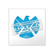 S.H.I.E.L.D. Distressed Square Sticker 3