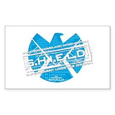 S.H.I.E.L.D. Distressed Sticker (Rectangle)