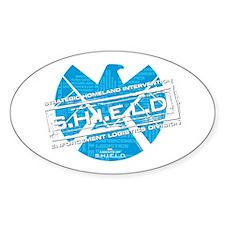 S.H.I.E.L.D. Distressed Sticker (Oval)
