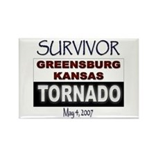 Survivor Kansas Tornado Rectangle Magnet