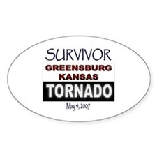 Survivor Kansas Tornado Oval Decal