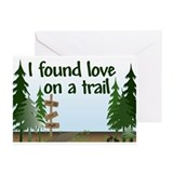 I found love on a Trail Greeting Cards (Package of