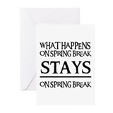 SPRING BREAK Greeting Cards (Pk of 10)