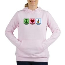Peace Love Debate Women's Hooded Sweatshirt