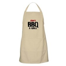 Personalize Bbq & Grill Aprons For Men | Beige