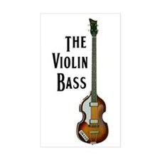 The Violin Bass Rectangle Decal