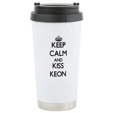 Keep Calm and Kiss Keon Travel Mug