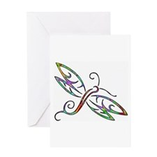 Colorful dragonfly Greeting Cards