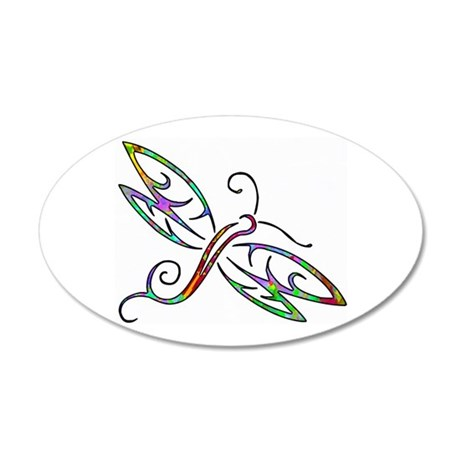 Colorful dragonfly Wall Decal