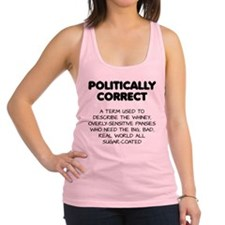 Politically Correct Pansies Racerback Tank Top