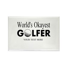 Worlds Okayest Golfer | Funny Golf Magnets