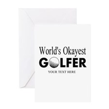 Worlds Okayest Golfer | Funny Golf Greeting Cards