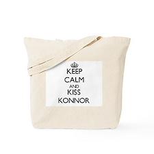 Keep Calm and Kiss Konnor Tote Bag
