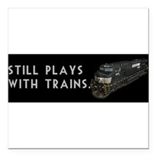 """Cute Norfolk southern Square Car Magnet 3"""" x 3"""""""