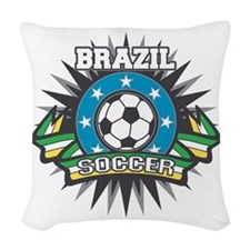 Brazil Soccer Woven Throw Pillow