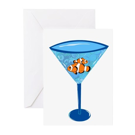 Clown Fishtini Greeting Cards (Pk of 10)