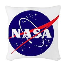 NASA Meatball Logo Woven Throw Pillow