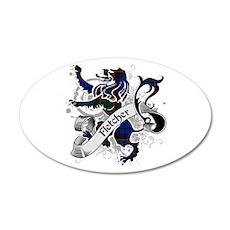 Fletcher Tartan Lion 35x21 Oval Wall Decal