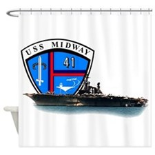 USS Midway CV-41 Shower Curtain