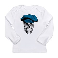 Blue Chef Skull Long Sleeve T-Shirt