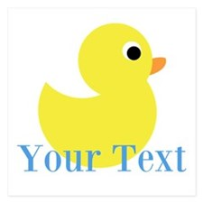 Personalizable Yellow Duck Blue Invitations