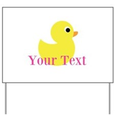 Personalizable Pink Yellow Duck Yard Sign