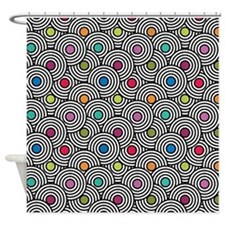 Optic Circles Shower Curtain