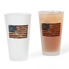 Patriotic Vintage American Flag Drinking Glass