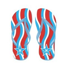 Patriotic Monogram Personalized Flip Flops