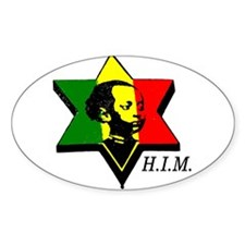 H.I.M. Haile Selassie I Oval Decal