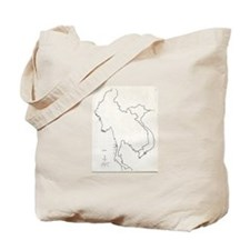 Vietnam Map Tote Bag