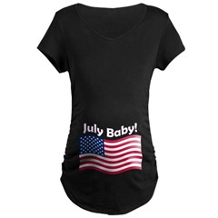 July Baby Maternity Dark T-Shirt