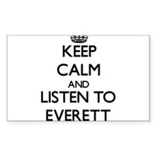 Keep Calm and Listen to Everett Decal