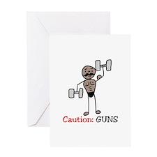 Caution: GUNS Greeting Cards