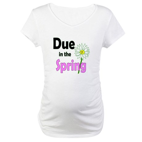 Due in Spring t-shirt Maternity T-Shirt