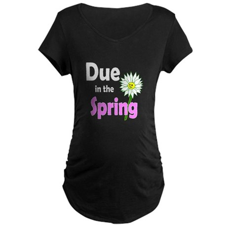 Due in Spring t-shirt Maternity Dark T-Shirt