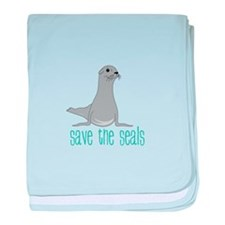 Save the Seals baby blanket