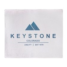 Keystone Ski Resort Colorado Throw Blanket