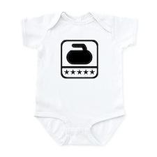 Curling stone stars Infant Bodysuit