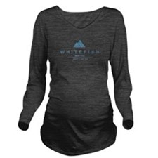 Whitefish Ski Resort Long Sleeve Maternity T-Shirt