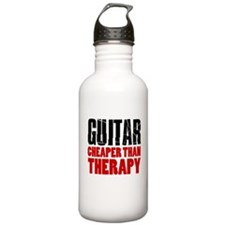 Guitar Cheaper Than Therapy Water Bottle